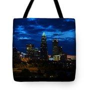 Charlotte North Carolina Panoramic Image Tote Bag by Chris Flees