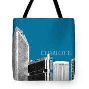 Charlotte Skyline 1 - Steel Tote Bag