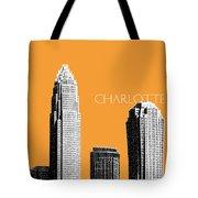 Charlotte Skyline 2 - Orange Tote Bag