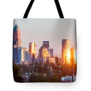 Charlotte Skyline In The Evening Before Sunset Tote Bag