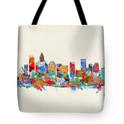 Charlotte Skyline North Carolina Tote Bag