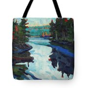 Charlton Lake Camp Sunrise Tote Bag