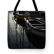 Charming Old Wooden Boats In The Harbor Tote Bag