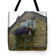 Charming Window And Flowers Tote Bag