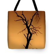 Charred Silhouette Tote Bag