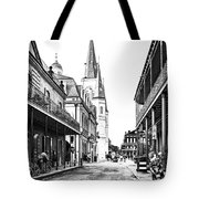 Chartres St In The French Quarter 3 Tote Bag