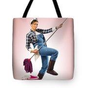 Charwoman On Pink Tote Bag