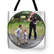 Chasing Bubbles Tote Bag