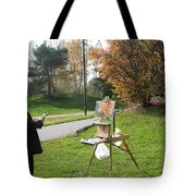 Chasing The Autumn Colors Tote Bag