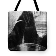 Chat In Black  Tote Bag