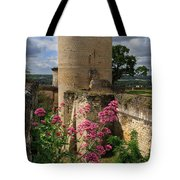 Chateau Chinon In The Loire Valley Tote Bag