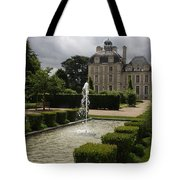 Chateau De Cheverny With Garden Fountain Tote Bag