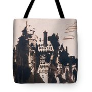 Chateau Fortified By Two Bridges Tote Bag by Victor Hugo