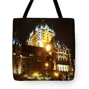 Chateau Frontenac At Night Tote Bag