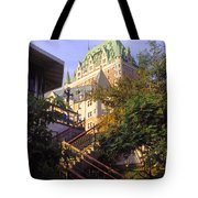 Chateau Frontenac In Quebec Tote Bag