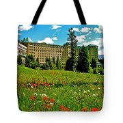 Chateau Lake Louise In Banff Np-alberta Tote Bag