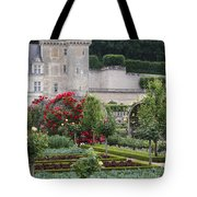 Chateau Villandry And The Cabbage Garden  Tote Bag