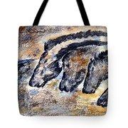 Chauvet Cave Auroch And Horses Tote Bag