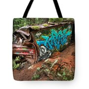 Cheakamus River Train Derailment Tote Bag