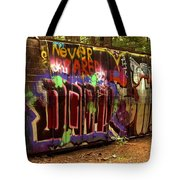 Cheakamus River Train Wreck Tote Bag