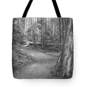Cheakamus Trail In Black And White Tote Bag