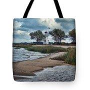 Cheboygan Crib Lighthouse #18 Tote Bag