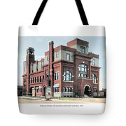 Cheboygan Michigan - Opera House And City Hall - Huron Street - 1905 Tote Bag