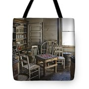 Checker Game Setting In A Back Room No. 3105 Tote Bag