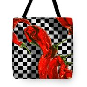 Checker Peppers Tote Bag