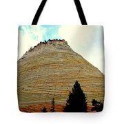 Checkerboard Mesa  Tote Bag by J Allen