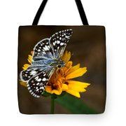 Checkered Skipper Square Tote Bag