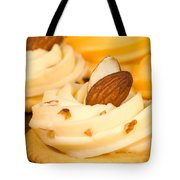 Cheddar Cheese On Crackers With Almonds Tote Bag