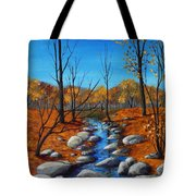 Cheerful Fall Tote Bag by Anastasiya Malakhova
