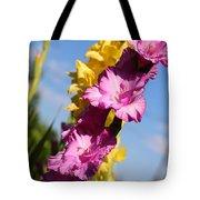 Cheerful Gladiolus Tote Bag