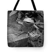 Cheers In Black And White Tote Bag by Suzanne Gaff