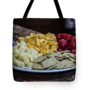 Cheese And Strawberries Tote Bag
