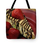 Cheesecake With Strawberries Tote Bag