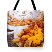 Cheesy Bacon Fries And Funnel Cake Tote Bag