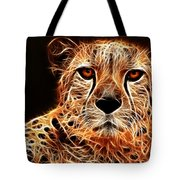 Cheetah Artwork Tote Bag