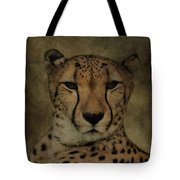 Cheetah Face Tote Bag