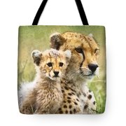 Cheetah Two Tote Bag
