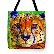 Face Of The Cheetah Tote Bag