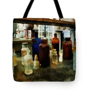Chemistry - Assorted Chemicals In Bottles Tote Bag