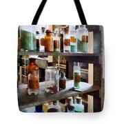 Chemistry - Bottles Of Chemicals Tote Bag