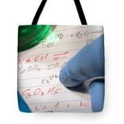 Chemistry Formulas In Science Research Lab Tote Bag