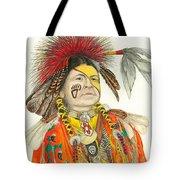 Cherokee In Orange Tote Bag by Lew Davis