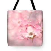 Pink Dogwood Blossoms Tote Bag