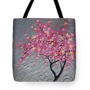 Cherry Blossom In Pink Tote Bag