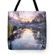 Cherry Blossom Lagoon Tote Bag