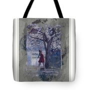 Cherry Blossom Red Abstract Tote Bag